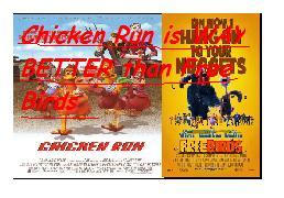Chicken Run over Free Birds stamp
