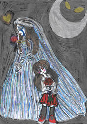 A Ravishing Bride and a Rose Red Flower child by YuiHarunaShinozaki