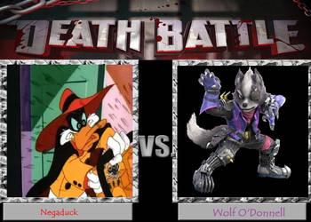 Death Battle-Negaduck vs Wolf O'Donnell by YuiHarunaShinozaki