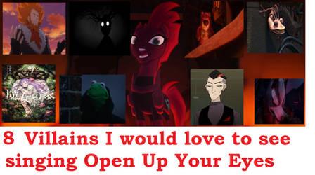 8 villains singing open up your eyes (my version) by YuiHarunaShinozaki