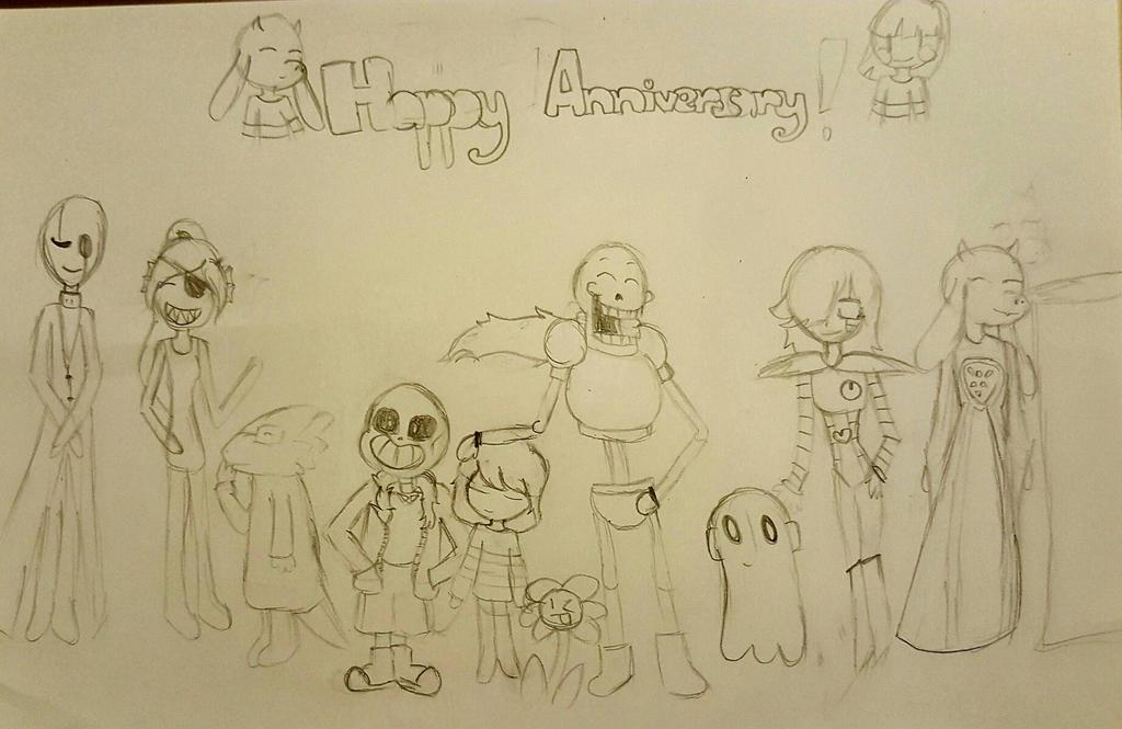 Happy 1st Anniversary!!! (WIP)  by flowercookie123