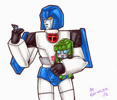 TF - Mirage and Plushie Hound by plantman-exe