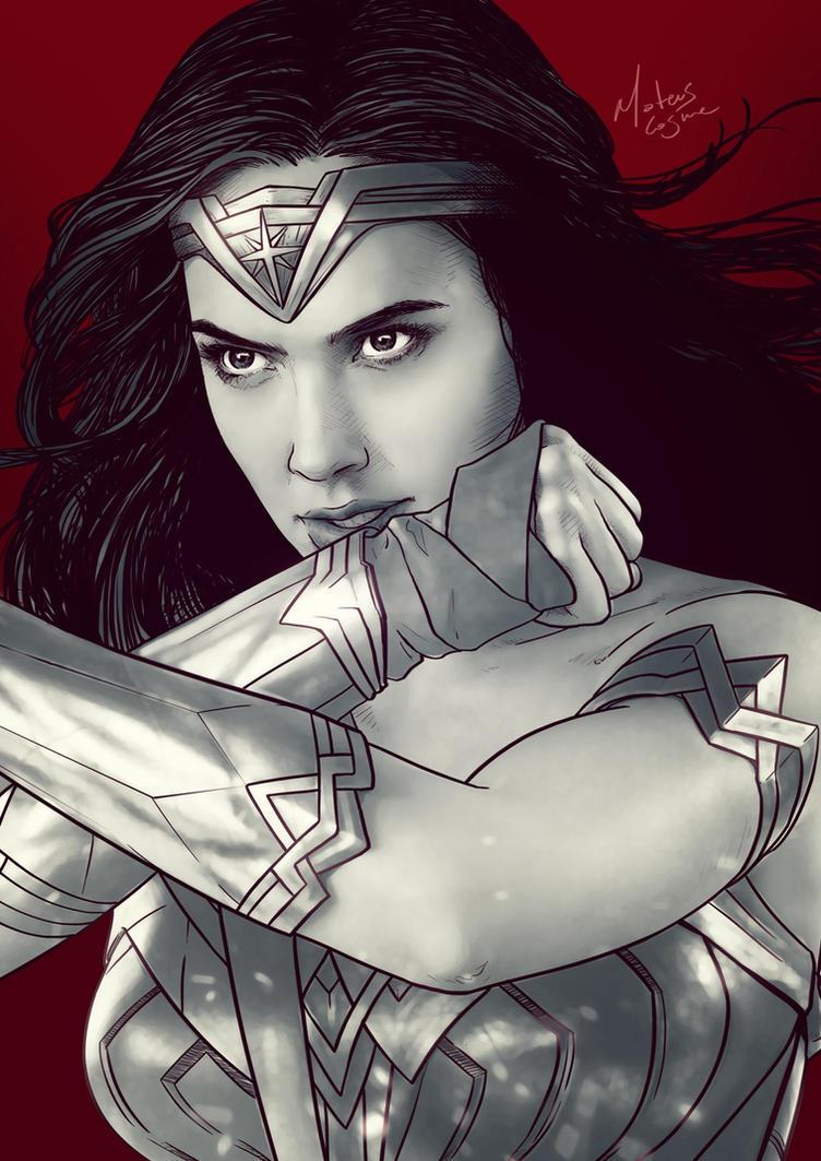 Gal Gadot as Wonder Woman by MateusCosme