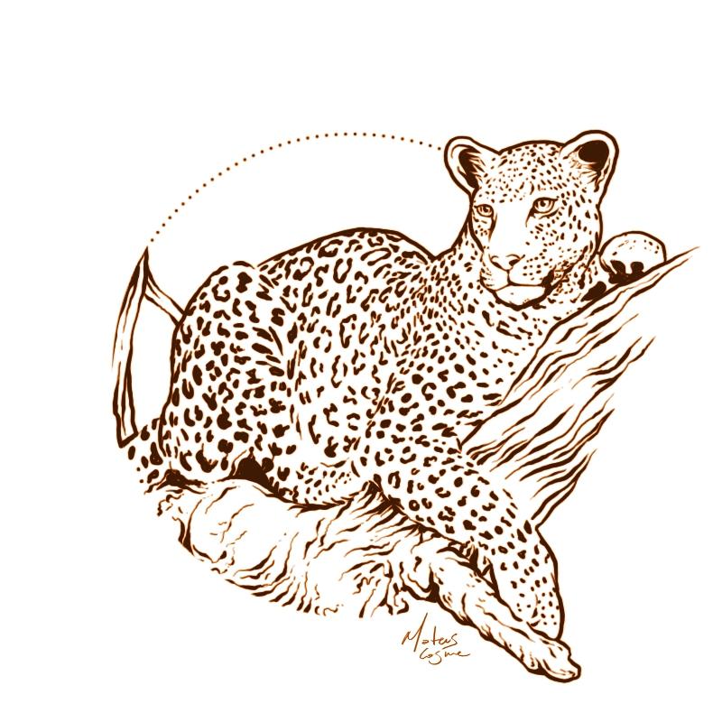 Leopard tattoo design by MateusCosme