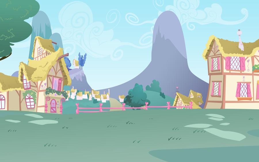 Ponyville Background By Lightf4lls On Deviantart