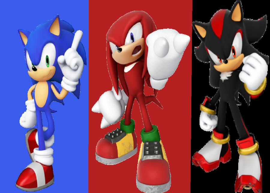 Sonic knuckles and shadow by princesszelda224 on deviantart - Jeux de sonic vs shadow ...