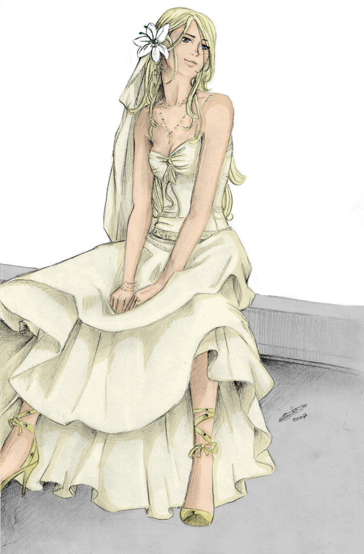 FleurWedding dress by nami86 by BellatrixBlackSnape on DeviantArt