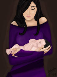 Eileen Prince and little Sev by BellatrixBlackSnape