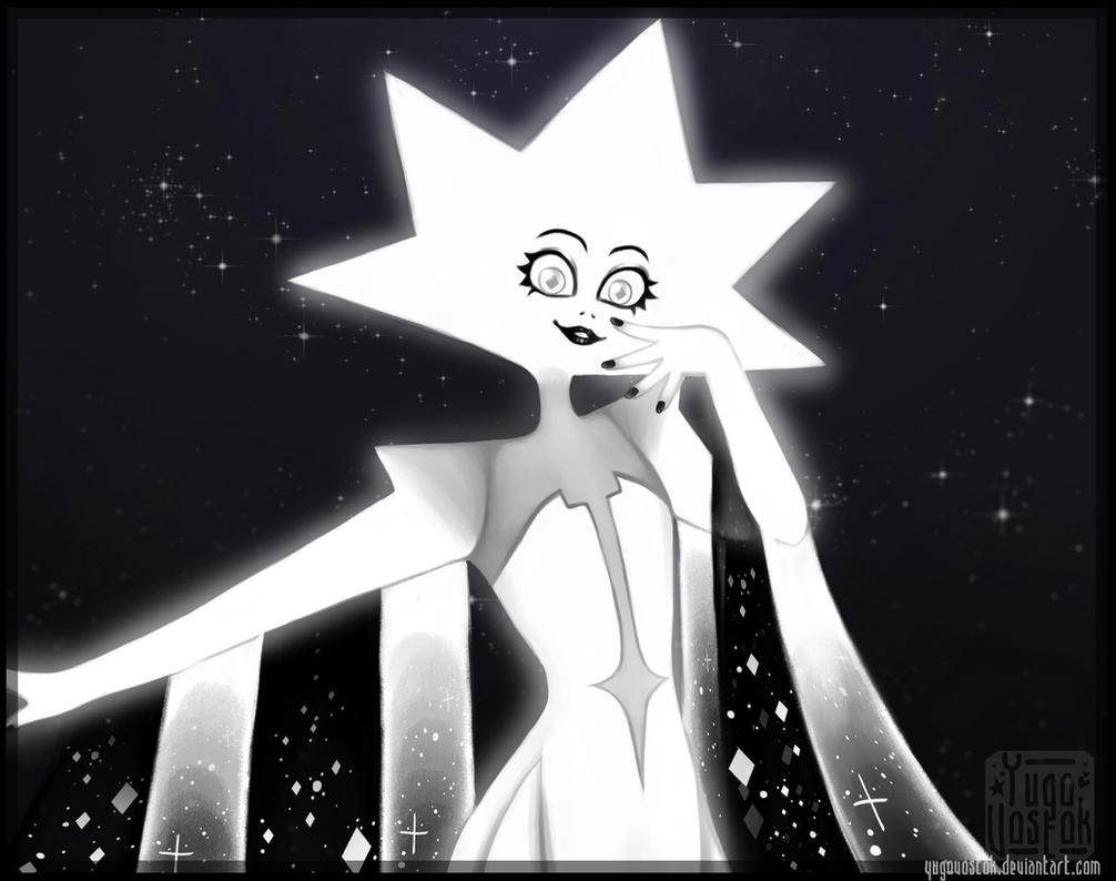 Video: www.youtube.com/watch?v=-pgvZp… White diamond is both beautiful and intimidating, so enjoy this art))