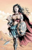 Wonder Woman In Armor by Brianskipper