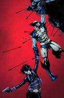 Wolverine and Domino by Brianskipper