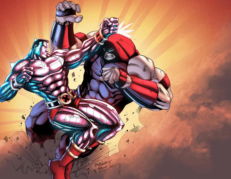 colossus vs juggernaut by brianskipper on deviantart
