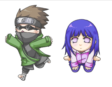 Hinata and shino chibis by Kiwibon on DeviantArt
