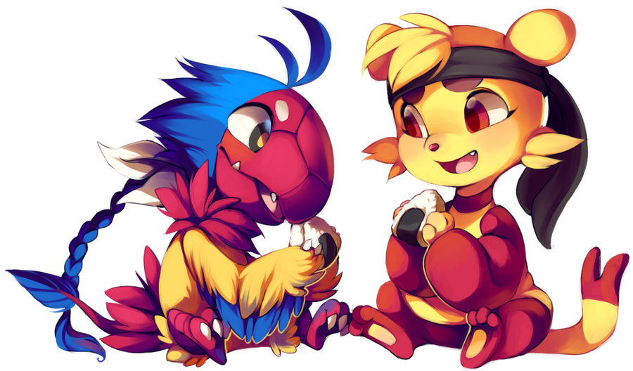 Archeru and Lin by Kiwiggle