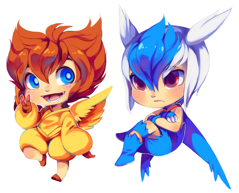 Victini and Latios by Kiwibon
