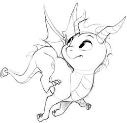 Spyro doodle by Kiwibon