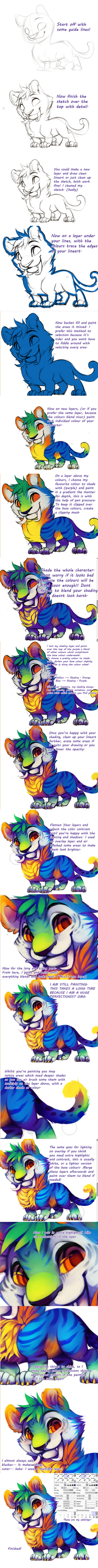 Tiger thing - Tutorial by Kiwiggle