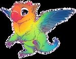 If birds were dragons: Lovebird
