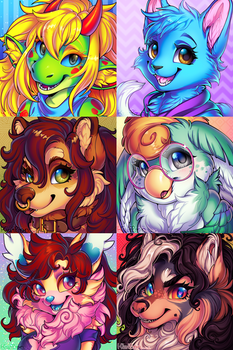 Bunch of icon commissions