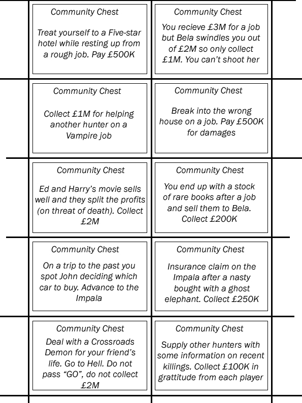 Supernatural Monopoly Cards 2 Community Chest By Much