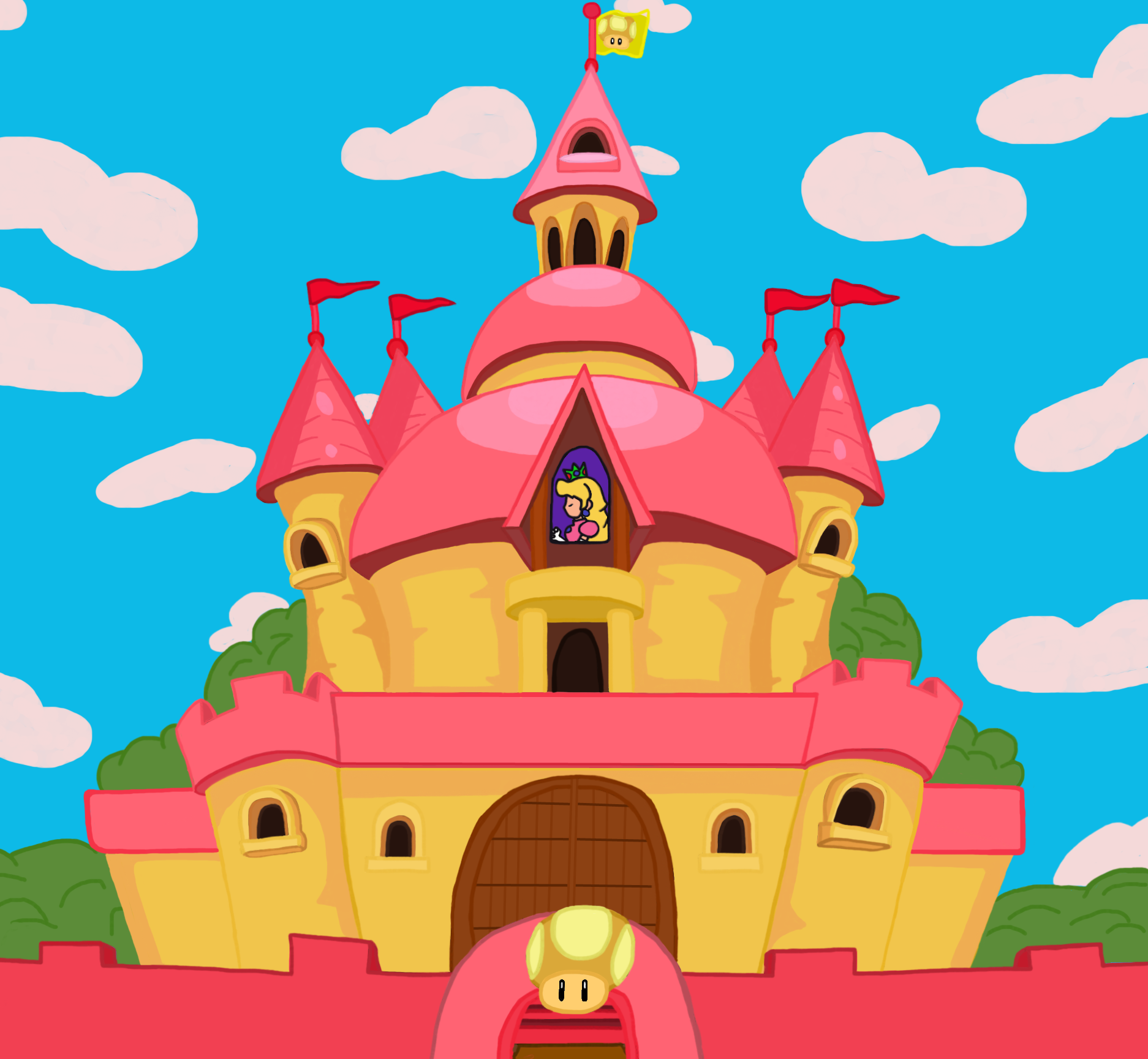 Princess Peach S Castle By Ny Disney Fan1955 On Deviantart