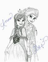 Anna and Elsa by NY-Disney-fan1955