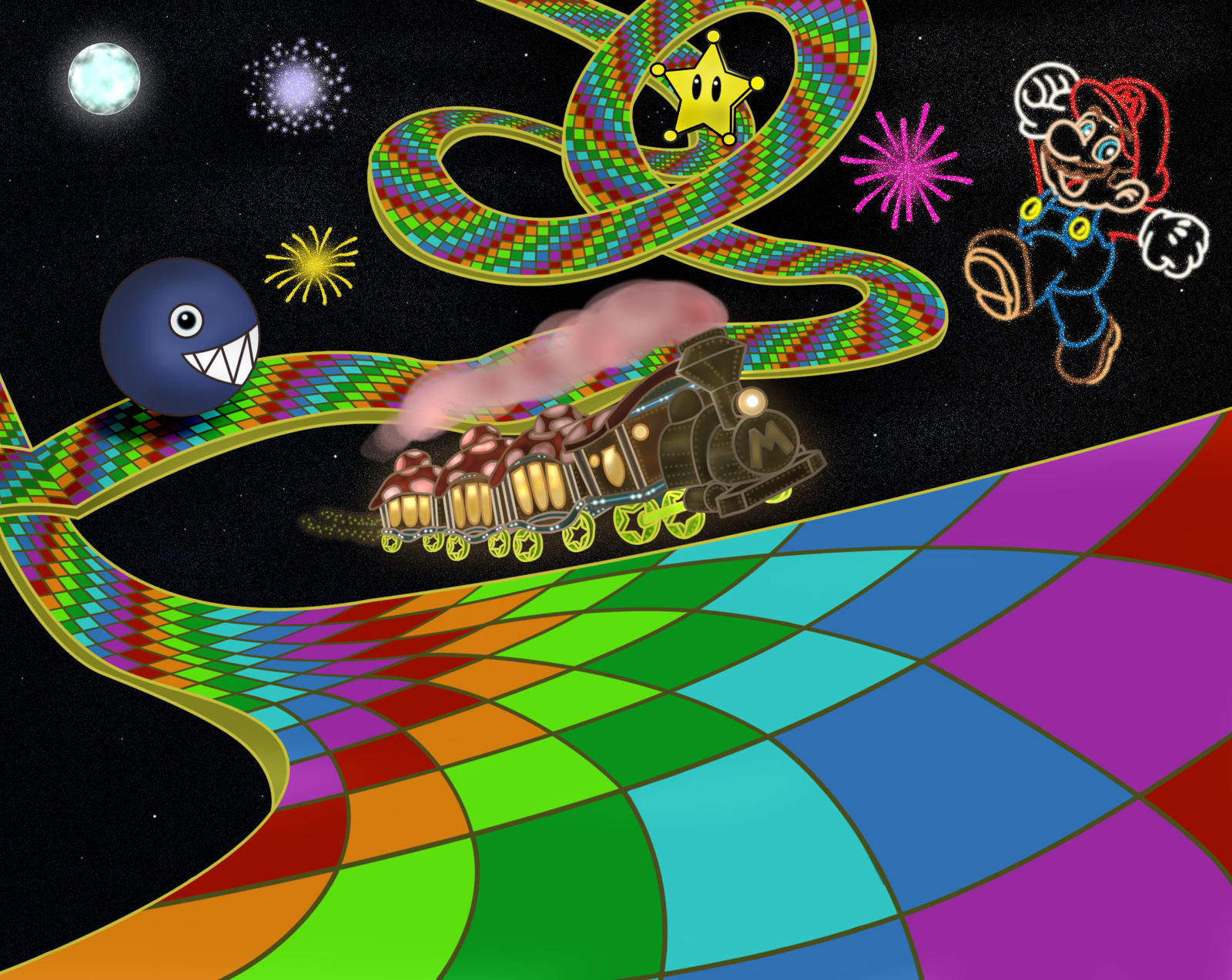 N64 Rainbow Road By Ny Disney Fan1955 On Deviantart