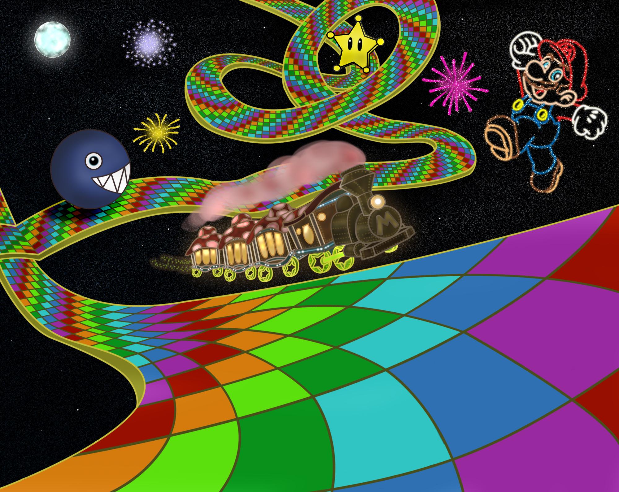 (N64) Rainbow Road by NY-Disney-fan1955