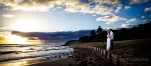 A bridal sunrise