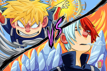 Bakugo vs Todoroki from Boku No Hero Academia by yonson-cb
