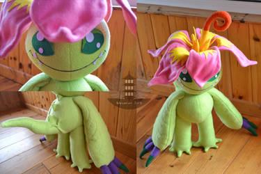 Palmon plush Digimon by BoiraPlushies