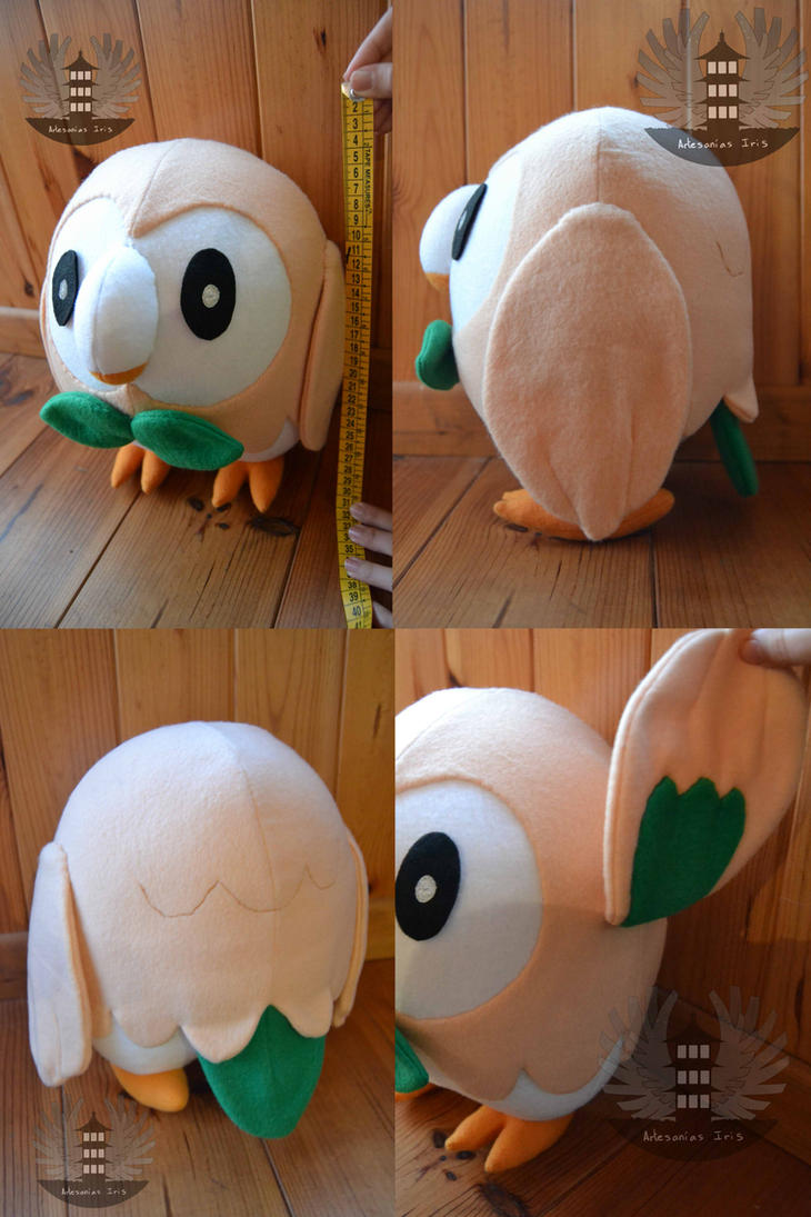 Life size Pokemon ROWLET plush by ArtesaniasIris