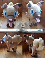 Iwanko/Rockruff Plush Pokemon by BoiraPlushies