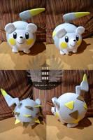 Life size Togedemaru plush Pokemon by BoiraPlushies