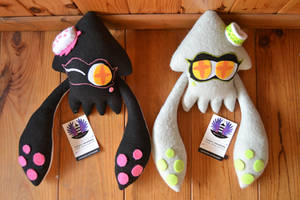 SOLD: Squid sisters squid form plush- Splatoon by BoiraPlushies