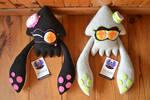 SOLD: Squid sisters squid form plush- Splatoon