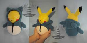 Pikachu Snorlax Kigurumi Plush by BoiraPlushies