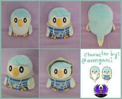 OC Bird plush - Evir by BoiraPlushies