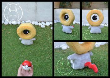 Meltan plush - The new mythical Pokemon by BoiraPlushies