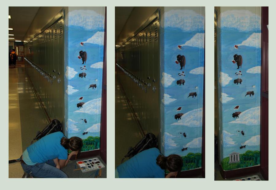 Reading buffalo mural by eclectinique on deviantart for Bufflon revetement mural