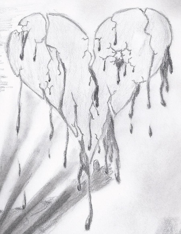 broken heart by esteban032 on DeviantArt Pencil Drawings Of Broken Hearts