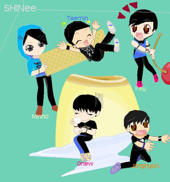 SHINee Dessert by lightninglarxene