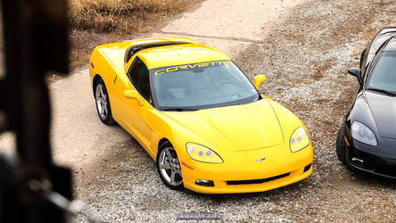 Yellow Vette with a side of Darkness