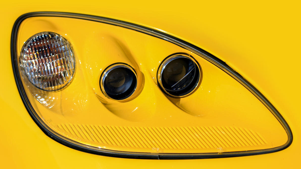Corvette Headlight by joerayphoto