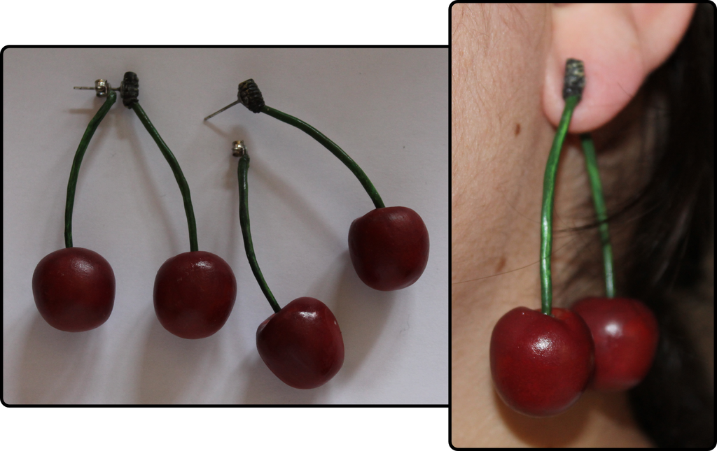 Cherry Earrings by Ingalain