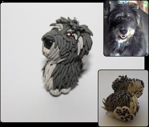 Hairy Dog Charm