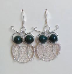 Owl Wire Earrings