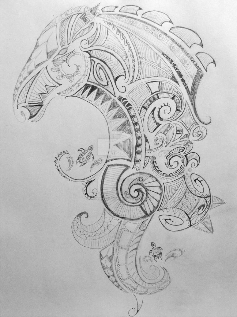 Maori Tattoo WIP by blueangel1122 on DeviantArt