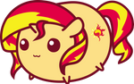 No Touching Sunset Shimmer vector