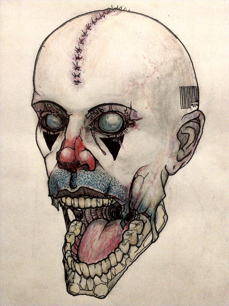 Electric Zombie Clown Lobotomy by krutch99